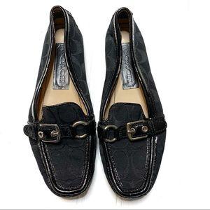 Coach sz 6 black Stacie loafers